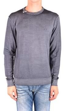 Sun 68 Men's Mcbi286179o Grey Wool Sweater.