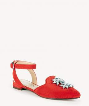 Sole Society PEARLA Ankle Strap Embellished Flat