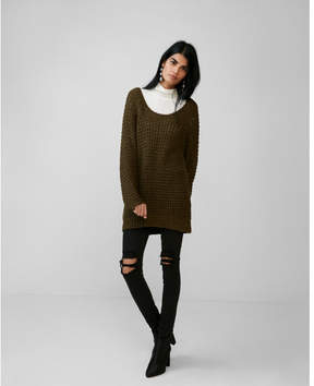 Express off the shoulder balloon sleeve sweater