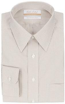 Roundtree & Yorke Gold Label Non-Iron Full-Fit Point Collar Checked Dress Shirt