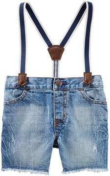 Osh Kosh Oshkosh Bgosh Baby Boy Suspender Sun Faded Shorts