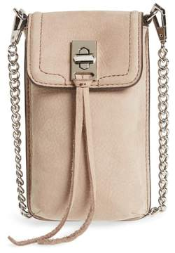 Rebecca Minkoff Darren Leather Phone Crossbody Bag - BEIGE - STYLE