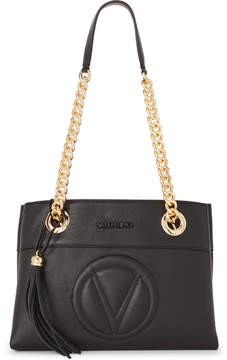 Mario Valentino Valentino By Black Kali Leather Shoulder Bag