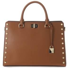 Michael Kors Sylvie Brown Leather Handbag With Studs - MARRONE - STYLE