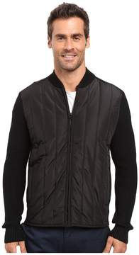 Kenneth Cole Sportswear Nylon Quilted Moto Jacket Men's Coat
