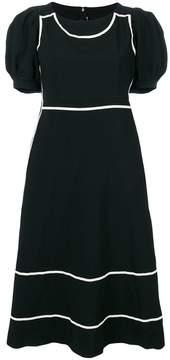 Comme des Garcons contrast trim puff sleeve dress