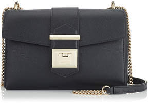 Jimmy Choo MARIANNE/XB Black Grainy Calf Leather Cross Body Bag