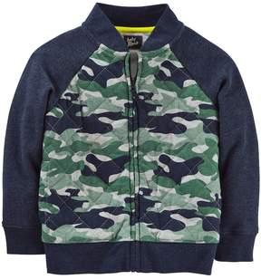 Osh Kosh Toddler Boy Jersey Camo Bomber Jacket