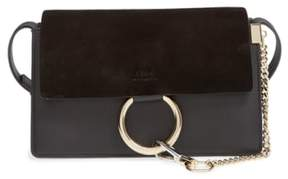 Chloé Small Faye Leather Shoulder Bag - Black