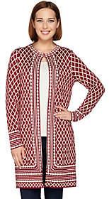 C. Wonder Long Sleeve Jacquard Knit Sweater Coat