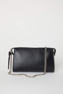 H&M Clutch Bag with Metal Chain - Black