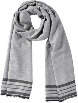 Joe Fresh Women's Metallic Stripe Scarf, Grey Mix (Size O/S)