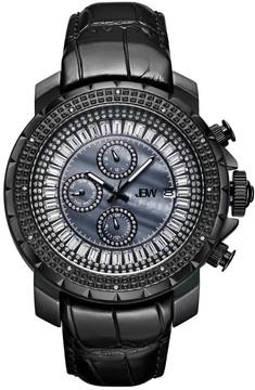 JBW Titus Black Mother Of Pearl Dial Men's Diamond Watch