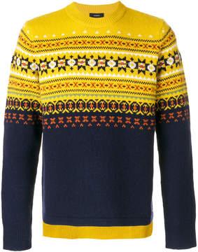 Joseph fair isle knit jumper