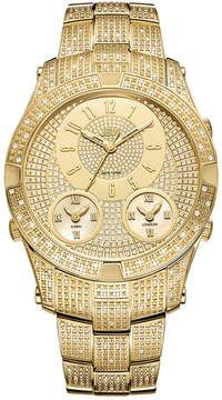 JBW Jet Setter III 18k Gold-Plated Stainless Steel 1.18 C.T.W Diamond Accent Mens Gold Tone Bracelet Watch-J6348a