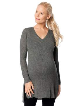 A Pea in the Pod Side Slit Maternity Sweater