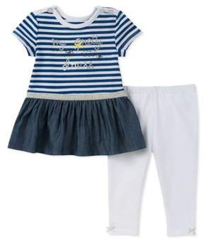 Absorba Baby Girl's Two-Piece Tunic and Leggings Set