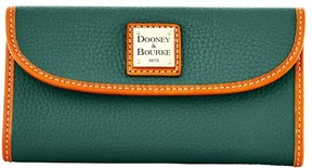 Dooney & Bourke Pebble Grain Continental Clutch Wallet - HUNTER - STYLE