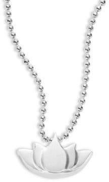 Alex Woo Little Faith and Symbols Lotus Necklace