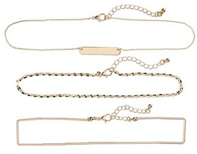 BP Women's Set Of 3 Link Necklaces