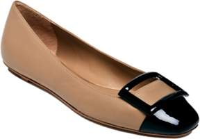 Delman Patent And Nappa Foray Flats.