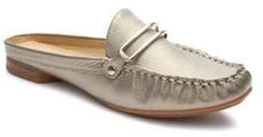 Tahari Klinton Metallic Leather Slide Loafers