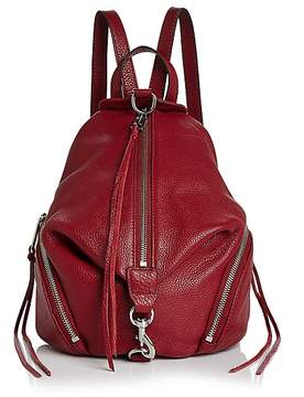 Rebecca Minkoff Julian Medium Leather Backpack - ACAI RED/SILVER - STYLE