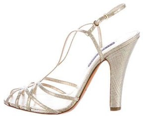 Ralph Lauren Collection Metallic Open-Toe Sandals