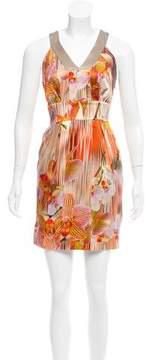 Matthew Williamson Silk Floral Print Dress