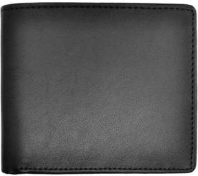 Royce Leather Men's Bifold Wallet with Zippered Change Purse in Genuine Leather