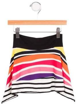 Junior Gaultier Girls' Striped Asymmetrical Skirt w/ Tags