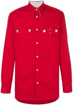 Calvin Klein straight-fit saloon shirt