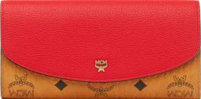 MCM Two Fold Wallet In Visetos Leather Block