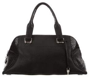 VBH Crocodile-Trimmed Avenue Bag