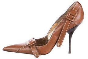 Cesare Paciotti Leather Pointed-Toe Pumps