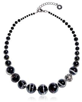 Antica Murrina Veneziana Women's Black Steel Necklace.