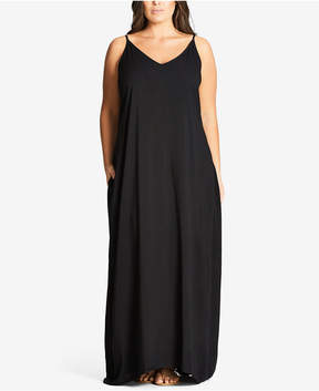 City Chic Trendy Plus Size V-Neck Maxi Dress