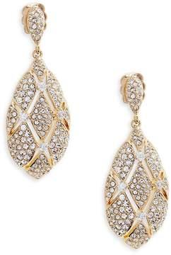 Adriana Orsini Women's Goldtone Crystal Oval Drop Earrings
