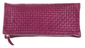 Clare Vivier Embossed Fold-Over Clutch