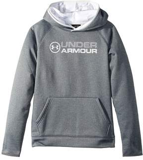 Under Armour Kids Armour Fleece Stacked Hoodie Boy's Sweatshirt
