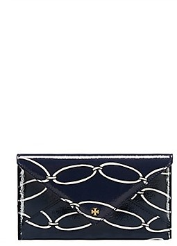 Tory Burch Printed Chain Leather Envelope - ELLIPTICAL LINK - STYLE