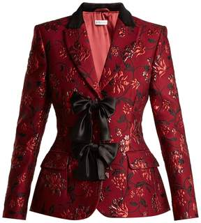 Altuzarra Angela single-breasted floral-brocade blazer