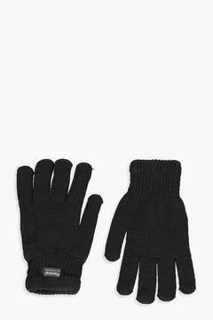 boohoo Kelly Fleece Lined Thermal Knitted Gloves