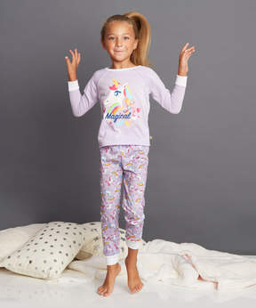 Dollie & Me Purple 'Be Magical' Pajama Set & Doll Outfit - Toddler & Girls