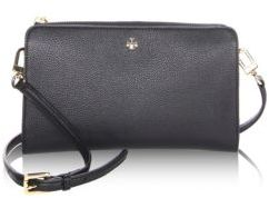Tory Burch Robinson Pebbled Leather Wallet Crossbody