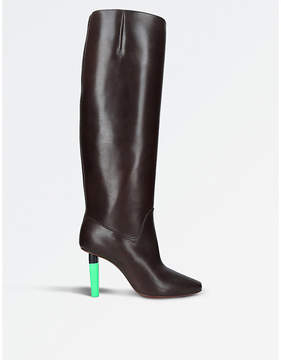Vetements Social Worker highlighter-heel leather boots