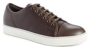 Lanvin Men's Shiny Cap Toe Sneaker