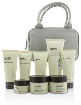 Ahava Essential Beauty Case: Body Exfoliator+Body Lotion+Cleanser+Facial Exfoliator+Mask+Day Cream+Night Cream+Eye Cream+Gray Bag