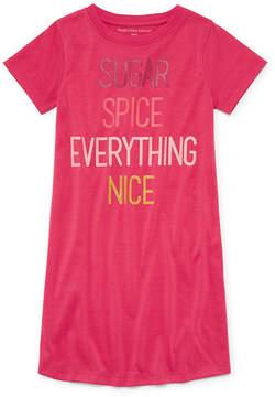 Asstd National Brand Short Sleeve Nightshirt-Big Kid Girls