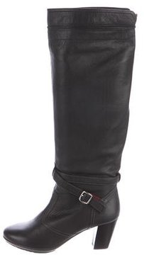 Bally Leather Knee-High Boots